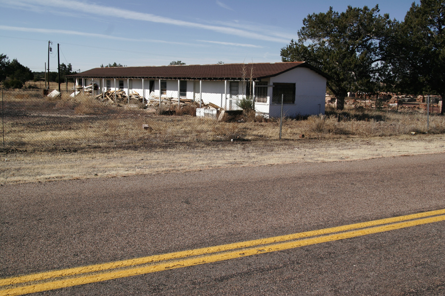 Remains of Martin's Motel in Ash Fork AZ.   Built in the mid 1950's